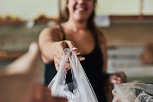 Single layer polyethylene plastic bag